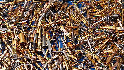 100 gram mill spec plated scrap gold pins for gold recovery ( aircraftparts )