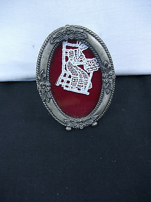 Framed Miniature Lace Picture