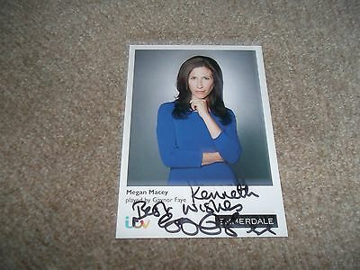 Gaynor Faye(Emmerdale) Dedicated Hand Signed Cast Card