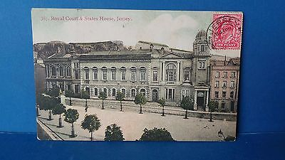 Jersey Channel Islands Postcard Royal Court & States Building A Smith 387 c1905
