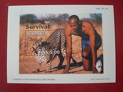 Namibia - 1998 Racing For Survival - Minisheet - Unmounted Mint - Ex. Condition