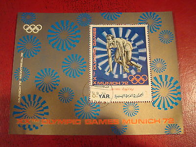 Yemen - 1972 Munich Olympics - Minisheet - Unmounted Used - Ex. Condition