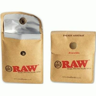 Raw Natural Flexible Pocket Ashtray Reusable Pouch Rolling Smoking Accessory