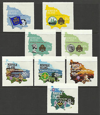 Scouts & Girl Guides Stamp Sets - Norfolk Islands - Self-Adhesive - 1978