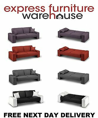 Cuba click clack sofa bed in four different colours