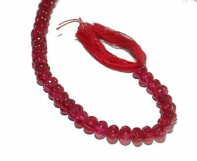 Red Synthetic Ruby Melon Shape Beads Variations 1-10 Line Lot loose Gemstone