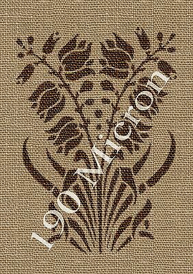 A5 stencil FLORAL PANEL 1, vintage,signs,Shabby Chic,fabric, furniture, paint,