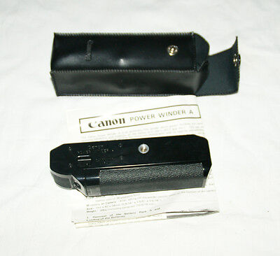 Canon POWER WINDER A (Instructions & Case)