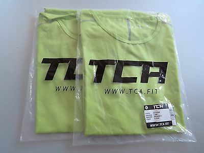 2 x Women's TCA Pro Performance Short Sleeve Base Layer Running Top - Lime -S