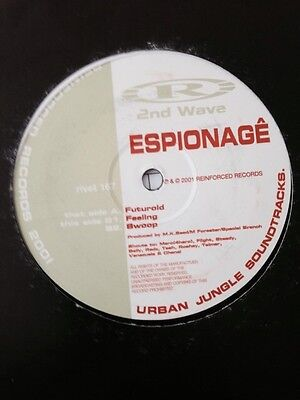 "Espionage - Futuroid/Feeling/Swoop 12"" Reinforced Records Drum and Bass Vinyl"