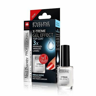 Professional Nail Conditioners EVELINE Nail Therapy Extreme Gel Effect Top Coat