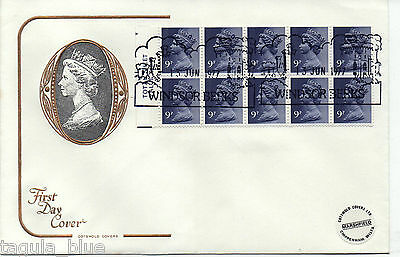1977 FG1A Machin definitive booklet pane First Day Cover