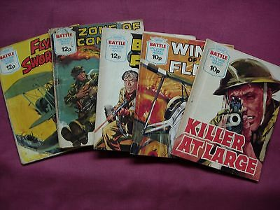 BATTLE Picture Library Fleetway X5 issue Job Lot 1976-1978 VGC/FN