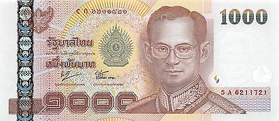 Thailand  1000  Baht  ND 2005  P 115  Series  5 A Uncirculated Banknote