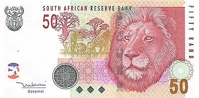 South Africa  50 Rand   ND. 1999  P 125c Series CC-C  Uncirculated Banknote AFD2