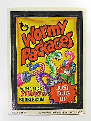 VINTAGE! 1979 Topps Wacky Packages Trading Card #40-Wormy-Wacky Packages