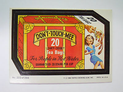 1980 Topps Wacky Packages Trading Card #223-Don't Touch Mee-Swee Touch Nee