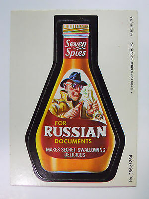 VINTAGE! 1980 Topps Wacky Packages Trading Card #256-Seven Spies-Seven Seas