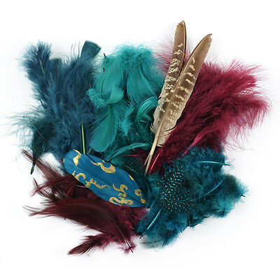 Packaged Feathers 7g Teal, Wood & Jasper 38-992