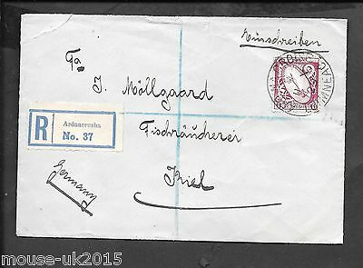 IRELAND REGd COVER FROM ARDNACRUSHA TO GERMANY RECEIVED 13.10.29