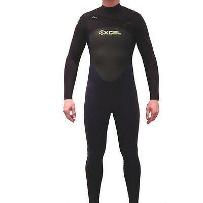 Xcel 4/3mm Axis Wetsuit X2 Chest Zip Ink Blue & Black NEW