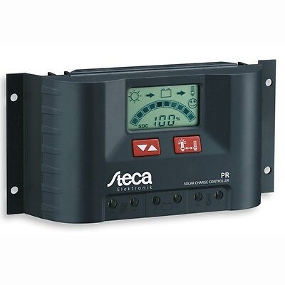 Solar Charge Controller Steca PR 1010 10 A 12/24V LCD display for RV's & boats