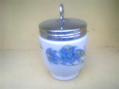 Pretty Royal Worcester Egg Coddler.  White With Floral Pattern