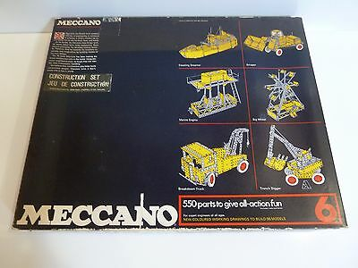 Meccano 1970's Yellow and Blue No 6 Set 100% Complete Great Condition