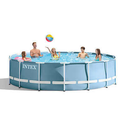 """Intex 15ft x 48"""" Prism Frame™ Swimming Pool + Pump ++ NEW for 2017 (28736)"""
