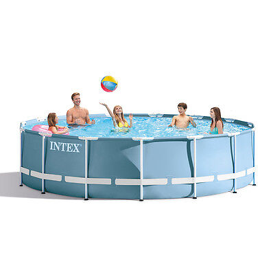 "Intex 15ft x 48"" Prism Frame™ Swimming Pool + Filter Pump NEW for 2017 (28736)"