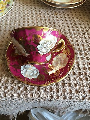 Continental Porcelain Cabinet Cup And Saucer