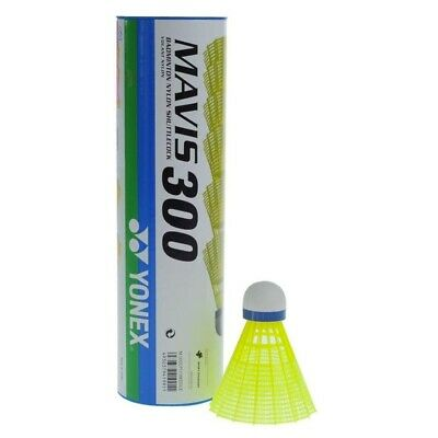 Yonex Mavis 300 medium speed Shuttlecocks 6 pack yellow or white