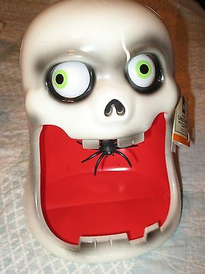 Ghost Halloween Animated Candy Dish - Moving Eyes, Talks, Sound - New With Tag !