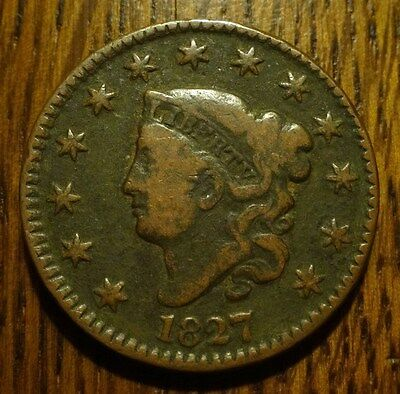 1827 Matron Head Large Cent  ~  Nice, Affordable Example