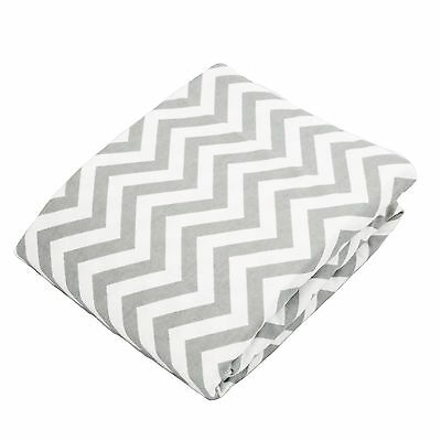Kushies Baby Fitted Change Pad Sheet Grey Chevron