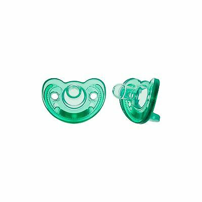 The First Years Gumdrop Pacifier 0-3 Months Green 2 Count
