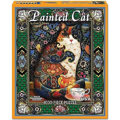 White Mountain Puzzles Painted Cat - 1000 Piece Jigsaw Puzzle