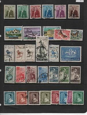 Lebenon stamp selection of larger type