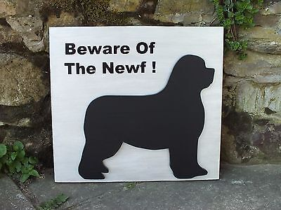 Large 3D Newfoundland Dog sign - BEWARE OF THE NEWF !