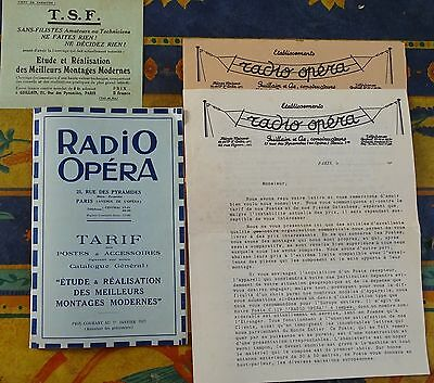 Catalogue Radio Opéra tsf  1927