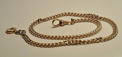 Antique  yellow gold filled pocket watch single chain fob 13 inch