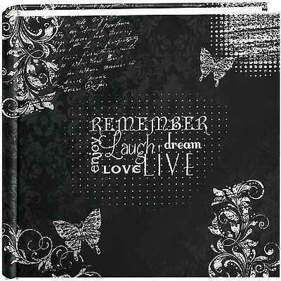 "Pioneer Photo Albums 200-Pocket Chalkboard Printed ""Remember"" Theme Photo Alb..."