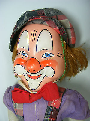 "OLD Classic 19"" Mask Faced Clown Very OLD! VINTAGE"