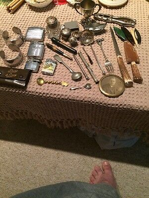 Job Lot Of Collectables Including Hallmarked Silver