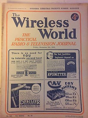The Wireless World December 1935 Collectables Magazines Vintage