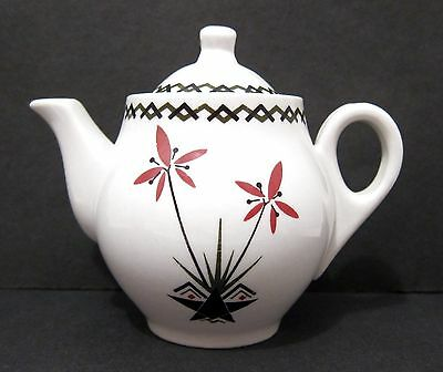 McNicol China Individual Teapot - Floral Pattern - Vintage