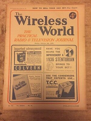 The Wireless World October 1935 Collectables Magazines Vintage