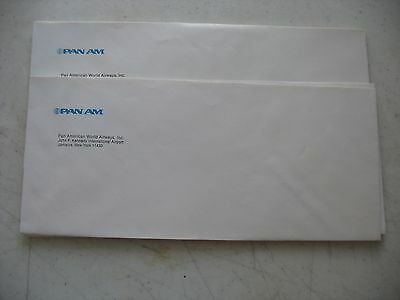 NOS PAN AM business envelopes paper advertising JFK Airport Jamaica NY Lot 12