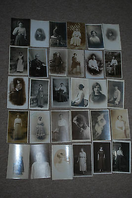 Early 1900's Social History Real Photograph's People  Postcard's Job Lot 2