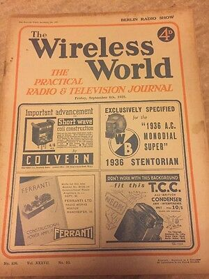 The Wireless World September 1935 Collectables Magazines Vintage